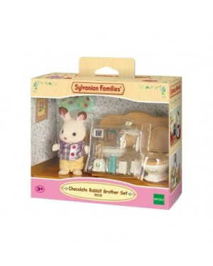 Chocolate Rabbit Brother Set Baño Sylvanian Families Calico 5015